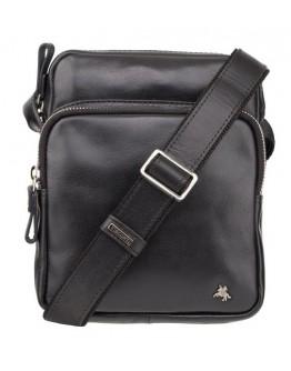 Мужская небольшая черная сумка через плечо Visconti ML40 Riley (Black)