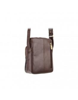 Коричневая кожаная небольшая плечевая сумка Visconti ML40 Riley (Brown)