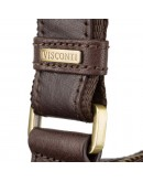 Фотография Коричневая кожаная небольшая плечевая сумка Visconti ML40 Riley (Brown)