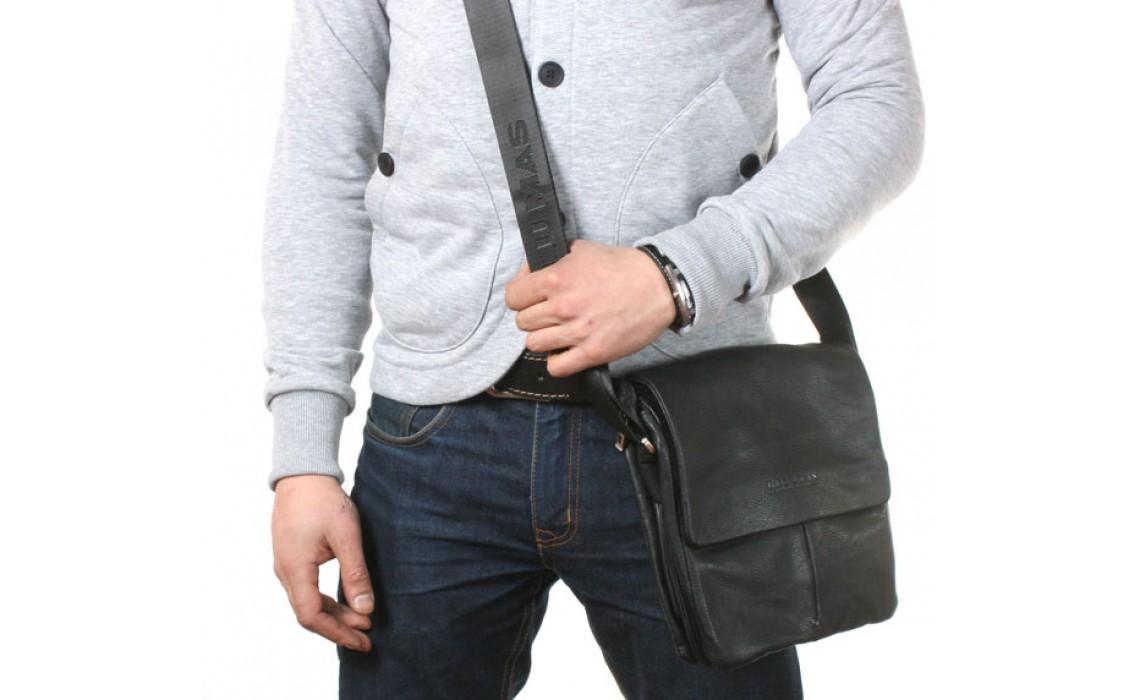 Молодёжные мужские кожаные сумки на плечо