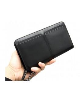 Клатч мужской кожаный черного цвета Ms007A