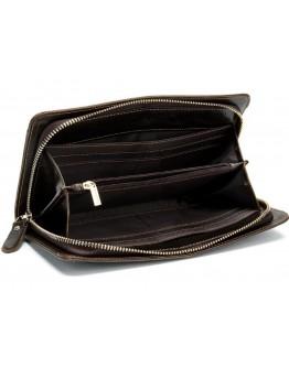 Клатч мужской кожаный коричневого цвета Ms007B