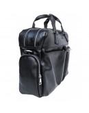 Фотография Черная кожаная деловая мужская сумка Newery N0021GA