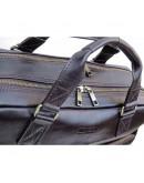 Фотография Коричневая деловая кожаная сумка - портфель Newery N0021GC