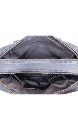Коричневая деловая кожаная сумка - портфель Newery N0021GC