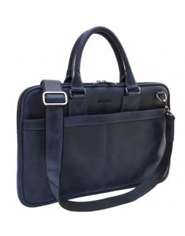Синяя тонкая кожаная винтажная сумка Newery N1002KB
