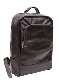 Кожаный мужской коричневый рюкзак Newery N1003GC
