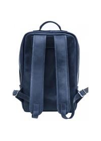 Синий рюкзак из натуральной винтажной кожи Newery N1003KB