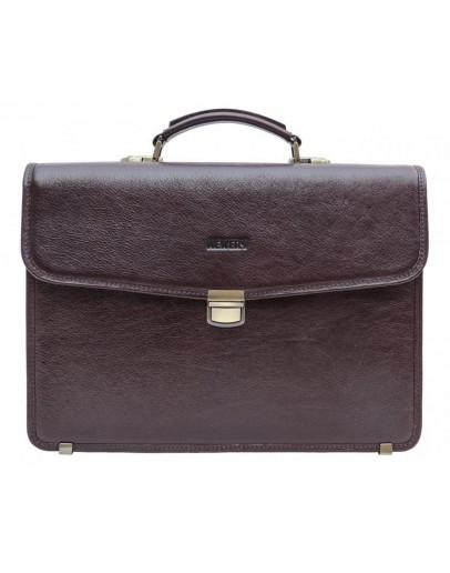 Фотография Коричневый мужской кожаный портфель Newery N1110GC