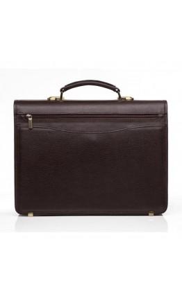 Коричневый мужской кожаный портфель Newery N1110GC