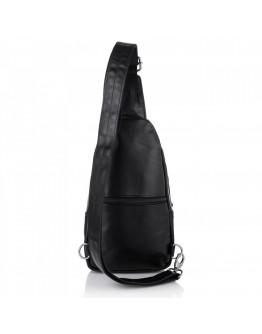 Черный мужской кожаный слинг Newery N116GA