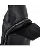 Фотография Черный мужской кожаный слинг Newery N116GA