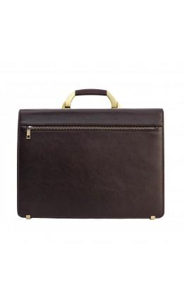 Коричневый кожаный мужской портфель Newery N1587GC