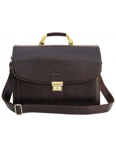 Фотография Коричневый кожаный мужской портфель Newery N1587GC