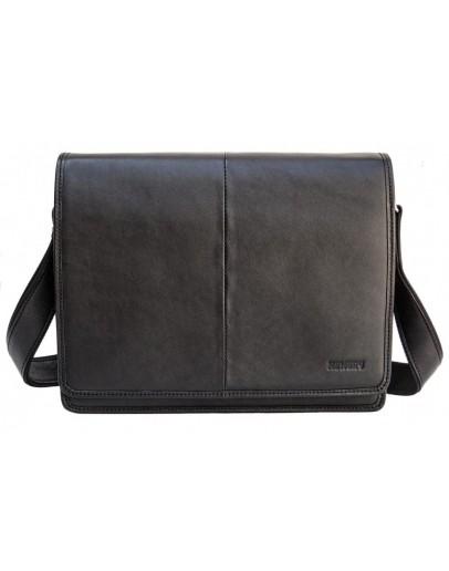 Фотография Черная мужская большая сумка на плечо Newery N1921GA