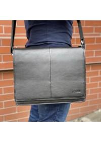 Черная мужская большая сумка на плечо Newery N1921GA
