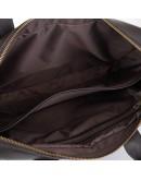 Фотография Темно-коричневая кожаная сумка под ноут и документы NEWERY N1930GC