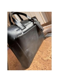 Черная мужская кожаная деловая сумка Newery N1930NA