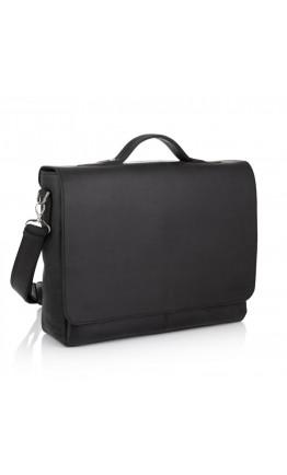 Большая винтажная черная сумка на плечо Newery N1960KA