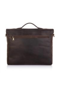 Большая винтажная коричневая сумка на плечо Newery N1960KC