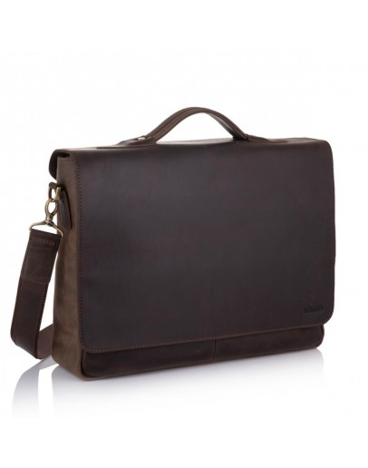 Фотография Большая винтажная коричневая сумка на плечо Newery N1960KC
