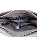 Фотография Черная мужская кожаная сумка на плечо Newery N1990GA
