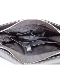 Черная мужская кожаная сумка на плечо Newery N1990GA
