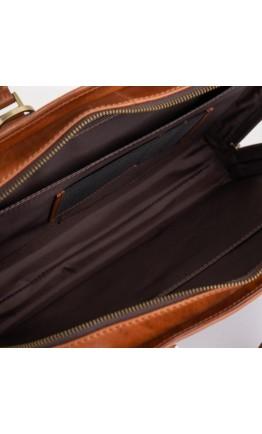 Винтажный кожаный рыжий мужской портфель Newery N1992GC