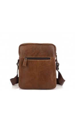 Коричневая кожаная сумка на плечо Tiding Bag N2-0013B