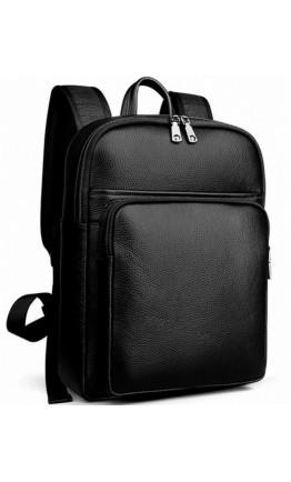 Кожаный мужской черный рюкзак Tiding Bag N2-191116-3A