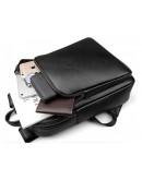 Фотография Кожаный мужской черный рюкзак Tiding Bag N2-191116-3A