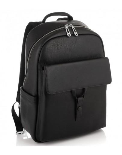 Фотография Черный мужской кожаный рюкзак Tiding Bag N2-191117A