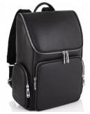 Фотография Мужской черный кожаный рюкзак Tiding Bag N2-191228-3A