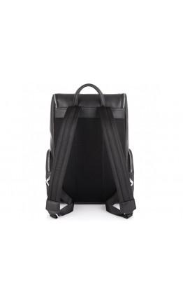 Мужской черный кожаный рюкзак Tiding Bag N2-191228-3A
