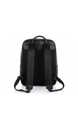 Рюкзак кожаный мужской черный Tiding Bag N2-191229-3A