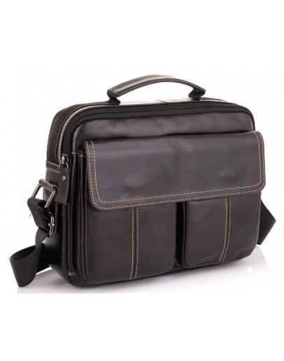 Фотография Горизонтальный кожаный мессенджер - барсетка Tiding Bag N2-403DB