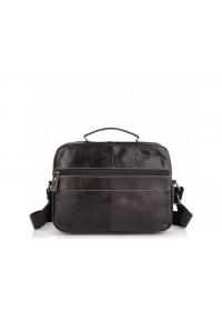 Горизонтальный кожаный мессенджер - барсетка Tiding Bag N2-403DB