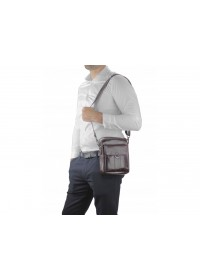 Коричневая сумка  - барсетка кожаная Tiding Bag N2-8013DB
