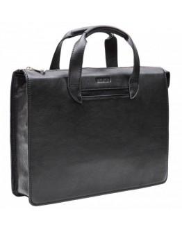 Черная кожаная сумка под документы Newery N2077GA