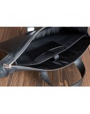 Фотография Черная кожаная сумка под документы Newery N2077GA