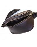 Фотография Коричневая сумка на пояс из гладкой кожи Newery N40298GC