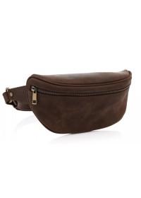Коричневая винтажная кожаная сумка на пояс Newery N40298KC