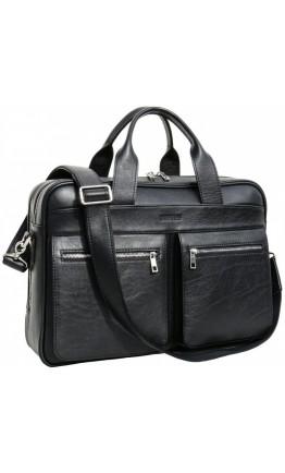 Черная вместительная сумка для ноутбука и документов Newery N4032GA
