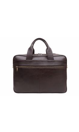 Коричневая вместительная сумка для ноутбука и документов Newery N4032GC