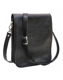 Черная мужская сумка на плечо с клапаном Newery N4227GA