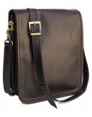 Фотография Темно-коричневая кожаная мужская сумка Newery N4227GC