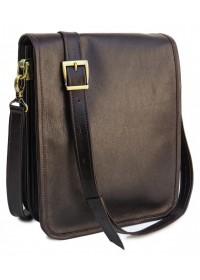 Темно-коричневая кожаная мужская сумка Newery N4227GC