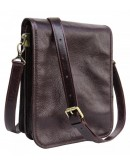 Фотография Мужская коричневая кожаная мужская сумка Newery N4227GCB