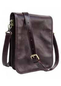 Мужская коричневая кожаная мужская сумка Newery N4227GCB