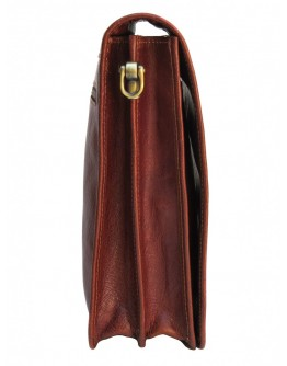 Коричневая мужская сумка на плечо с клапаном Newery N4227GCR